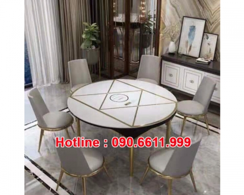 Dining table and hot pot